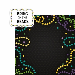 Mardi Gras: Bring on the Beads 2 Piece Laser Die Cut Kit