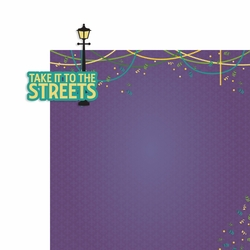Mardi Gras: Take it to the Streets 2 Piece Laser Die Cut Kit