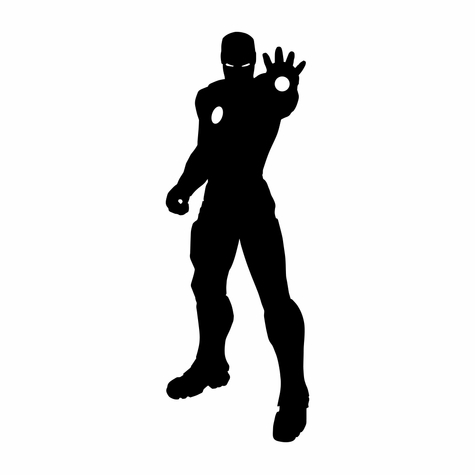Marvel: Iron Man Silhouette Laser Die Cut