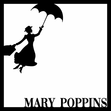 Mary Poppins 12 x 12 Overlay Laser Die Cut