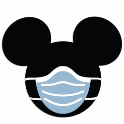 Masked Mouse: Masked Mickey Laser Die Cut