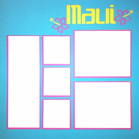 Maui Page 12 x 12 Overlay Laser Die Cut
