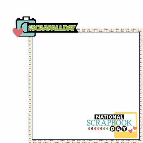 May: National Scrapbook 2 Piece Laser Die Cut Kit