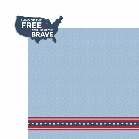 Memorial Day: Land of the Free 2 Piece Laser Die Cut Kit