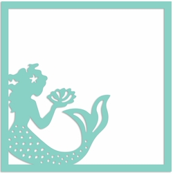 Mermaid 12 x 12 Overlay Laser Die Cut