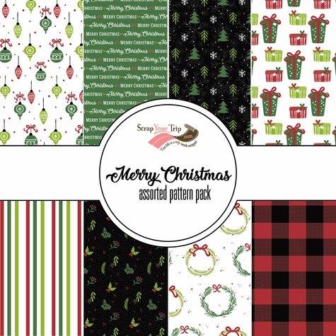 Merry Christmas: Assorted 12 x 12 Paper Pack