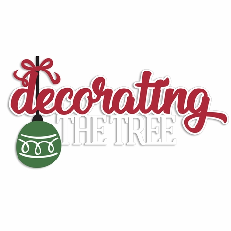 Merry Christmas: Decorating the Tree Laser Die Cut