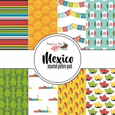 Mexico Assorted 12 x 12 Paper Pack
