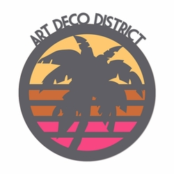 Miami: Art Deco District Laser Die Cut
