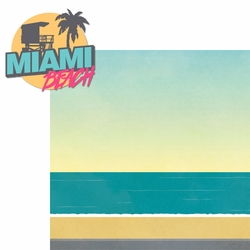 Miami: Miami Beach 2 Piece Laser Die Cut Kit