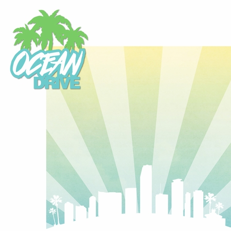 Miami: Ocean Drive 2 Piece Laser Die Cut Kit