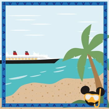 Mickey Cruise: Castaway Cay 12 x 12 Paper