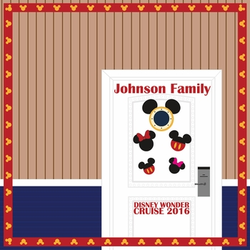 Mickey Cruise Door Custom 12 x 12 Paper