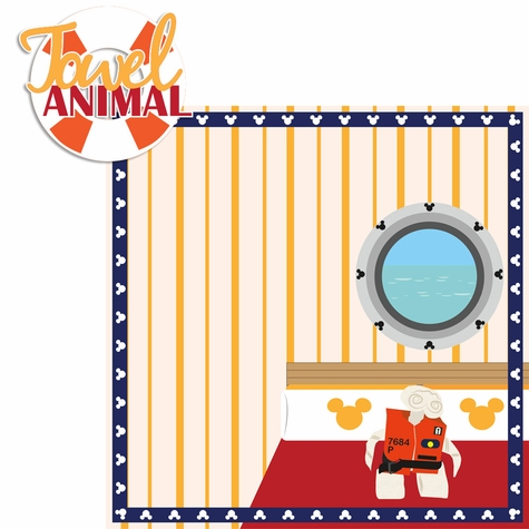 Mickey Cruise: Towel Animal 2 Piece Laser Die Cut Kit