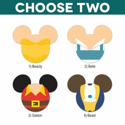 Mickey Heads: Beauty and the Beast Laser Die Cuts