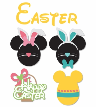 Mickey Heads: Easter Mouse Head Die Cuts