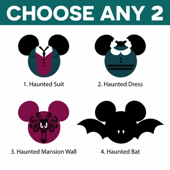 Mickey Heads: Haunted Mansion Mouse Head Laser Die Cuts