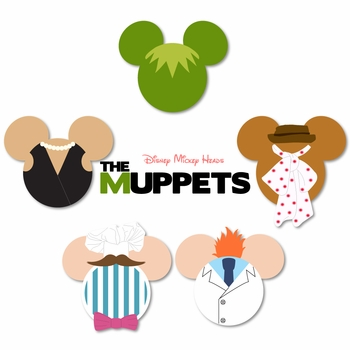 Mickey Heads: Muppets Mouse Head Laser Die Cuts
