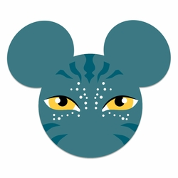 Mickey Heads:  Pandora Mouse Head Laser Die Cut