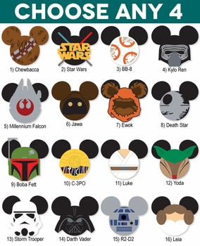 Mickey Heads: Star Wars Die Cuts