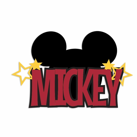 Mickey Laser Die Cut