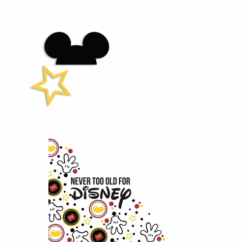 Mickey never too old 2 Piece Laser Die Cut Kit