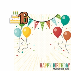 Milestone Birthdays: 16 2 Piece Laser Die Cut Kit