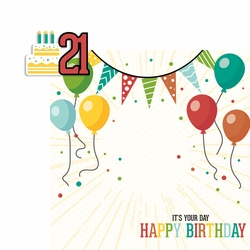 Milestone Birthdays: 21 2 Piece Laser Die Cut Kit