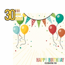 Milestone Birthdays: 30 2 Piece Laser Die Cut Kit