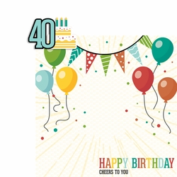 Milestone Birthdays: 40 2 Piece Laser Die Cut Kit