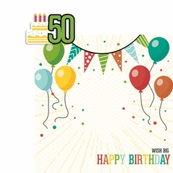 Milestone Birthdays: 50 2 Piece Laser Die Cut Kit