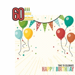 Milestone Birthdays: 60 2 Piece Laser Die Cut Kit