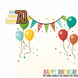 Milestone Birthdays: 70 2 Piece Laser Die Cut Kit