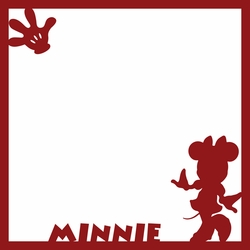 Minnie 12 x 12 Overlay Laser Die Cut