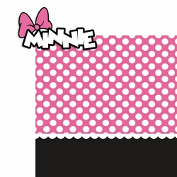 Minnie in Pink 2 Piece Print and Cut Kit