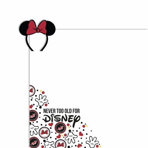 Minnie never too old 2 Piece Laser Die Cut Kit