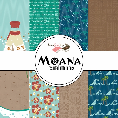 Moana Assorted 12 x 12 Paper Pack