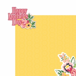 Mother's Day: Happy Mother's Day 2 Piece Print and Cut Kit