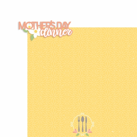 Mother's Day: Mother's Day dinner 2 Piece Laser Die Cut Kit