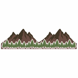 Mountain and Pine Border Print and Cut Laser Die Cut