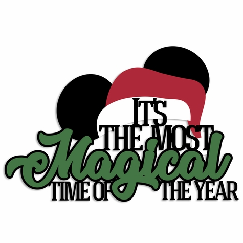 Mouse Christmas: Magical time Laser Die Cut