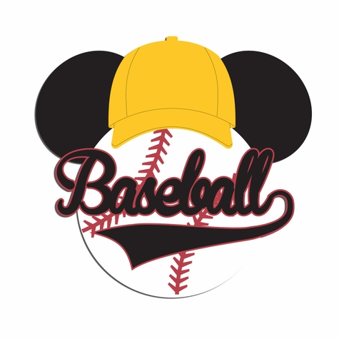 2SYT Mouse Sports: Mouse Baseball Laser Die Cut