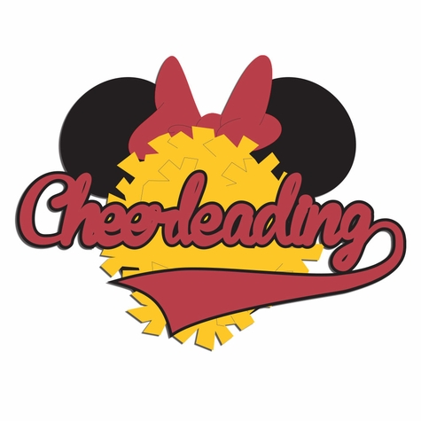 2SYT Mouse Sports: Mouse Cheerleading Laser Die Cut