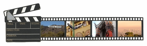 Movie Clap and Film Strip Border Laser Die Cut