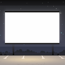 Movies: Drive In Movie 12 x 12 Paper