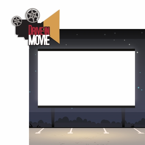 Movies: Drive In Movie 2 Piece Laser Die Cut Kit