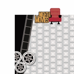 Movies: Night at the Movies 2 Piece Laser Die Cut Kit