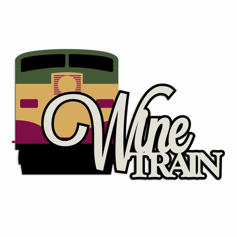 Napa Valley: Wine Train Laser Die Cut