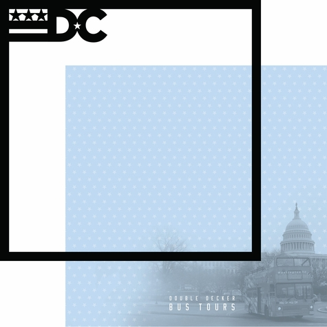 Nation's Capital: Bus Tours 12 x 12 Overlay Quick Page Laser Die Cut