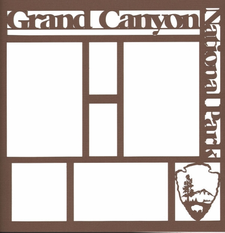 National Parks: Grand Canyon 12 x 12 Overlay Laser Die Cut